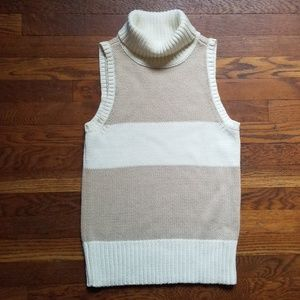 Tommy Hilfiger sleeveless turtleneck sweater L